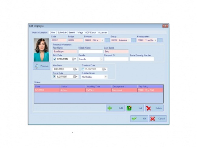AMG Employee Attendance Software Screenshot 2