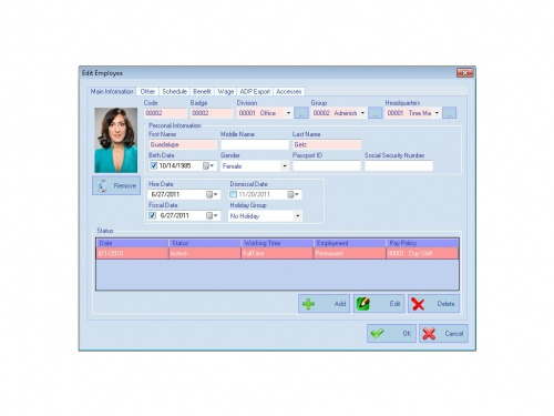 AMG Employee Attendance Software Screenshot