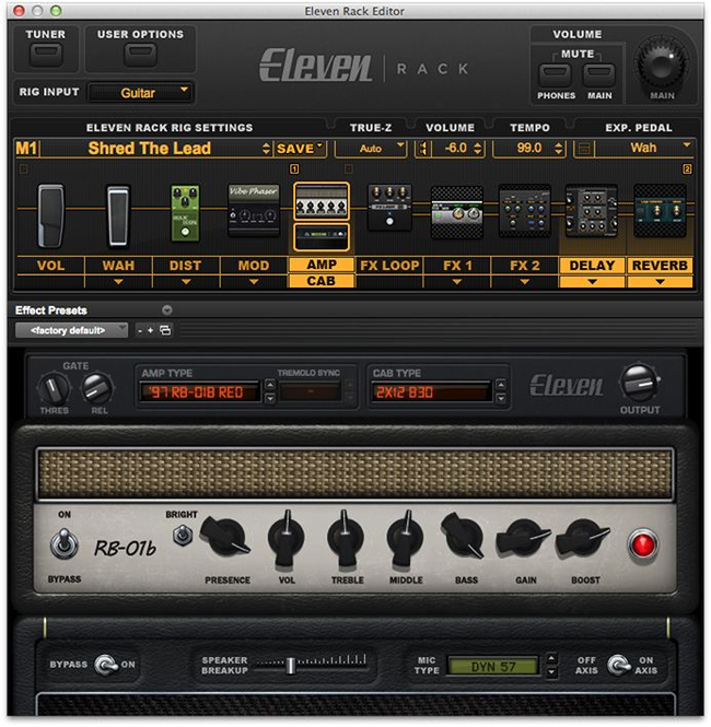 Eleven Rack Screenshot