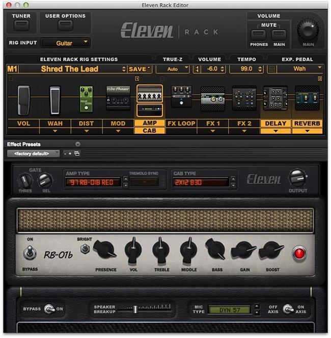 Eleven Rack Screenshot 1