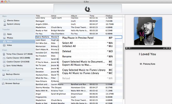 iLike for Mac Screenshot 1