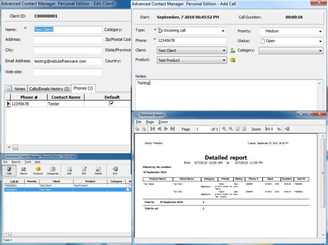 Contact Manager Free Screenshot 1