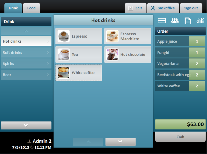 POS Sector Restaurant Pos Software Screenshot 1