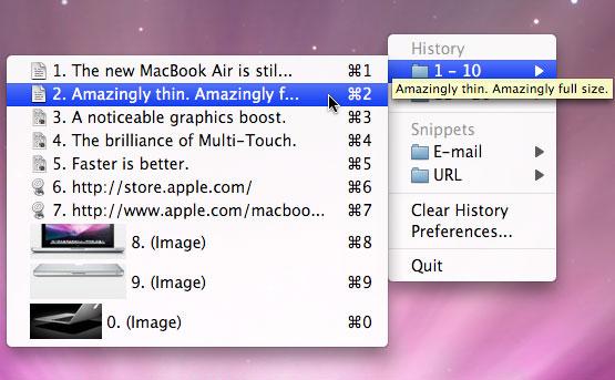 ClipMenu Screenshot