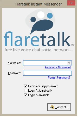 Flaretalk Instant Messenger Screenshot