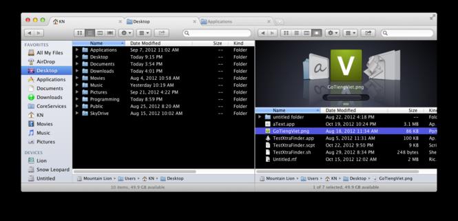 XtraFinder Screenshot 2
