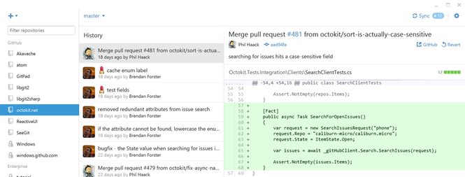 GitHub Screenshot 1