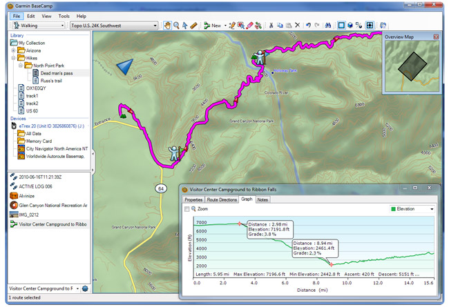 Garmin BaseCamp Screenshot 2