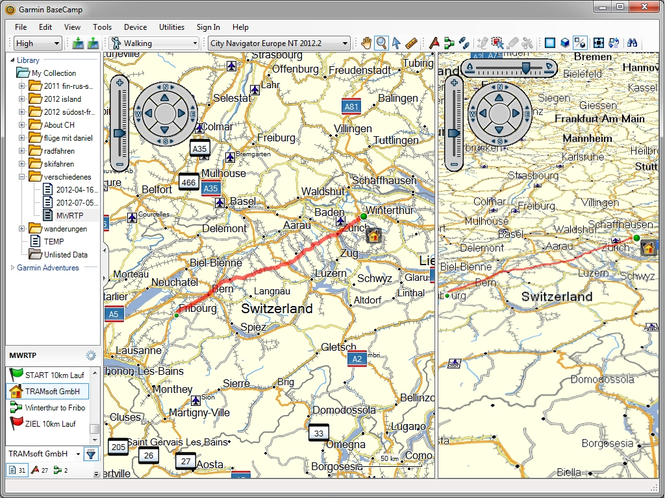 Garmin BaseCamp Screenshot