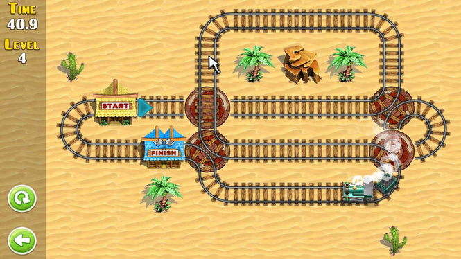 Puzzle Rail Rush Screenshot 1