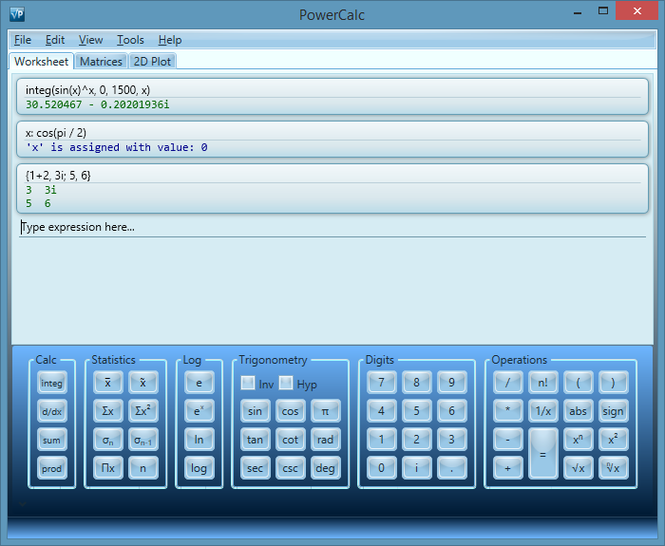 PowerCalc Screenshot