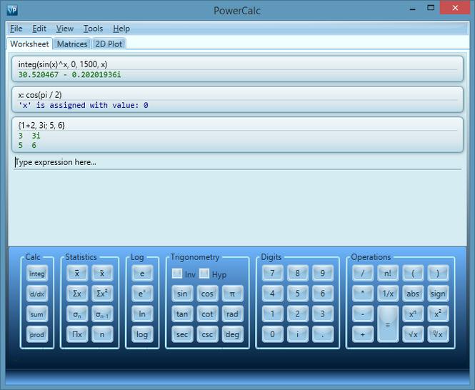 PowerCalc Screenshot 1