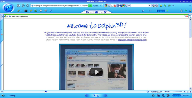 Dolphin3D Web Browser Screenshot