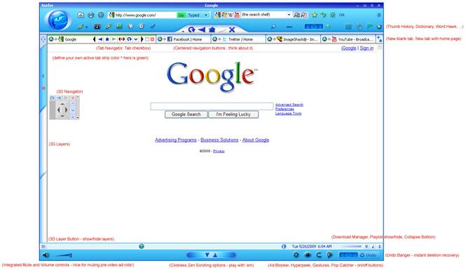 Dolphin3D Web Browser Screenshot 3