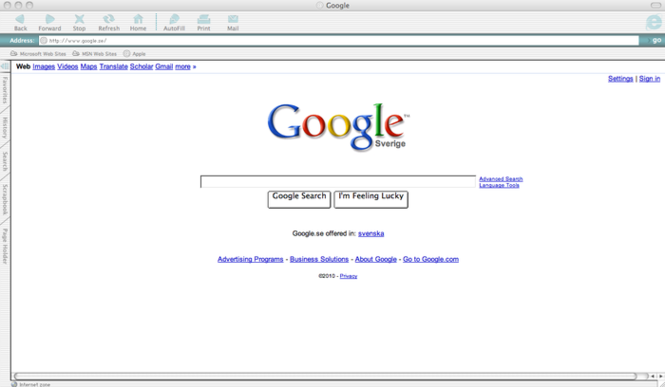 Internet Explorer 5 Screenshot 2