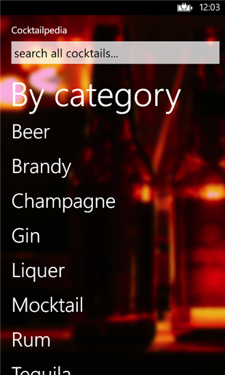 Cocktailpedia Screenshot
