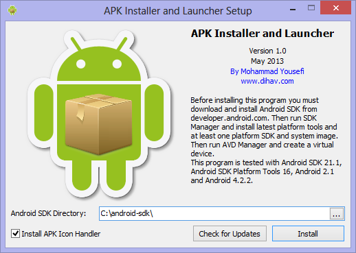 APK Installer and Launcher Screenshot