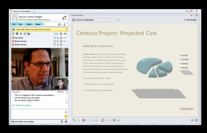 Microsoft Lync Screenshot 1