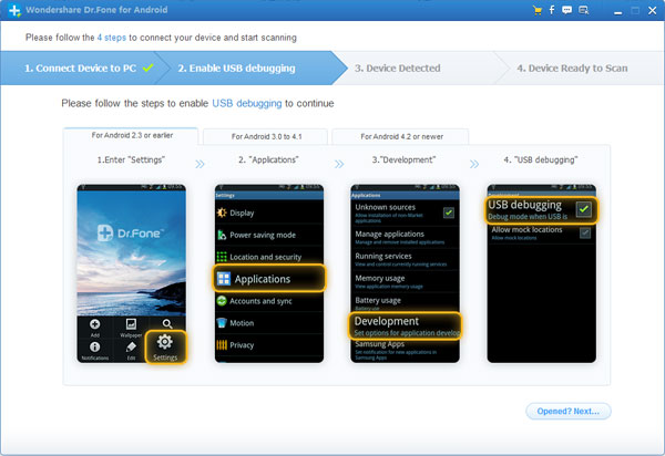 Wondershare Dr.Fone for Android Screenshot 2