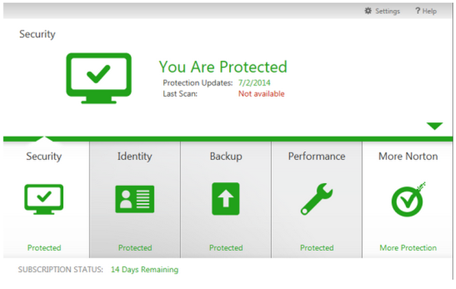 Norton Security with Backup Beta Screenshot