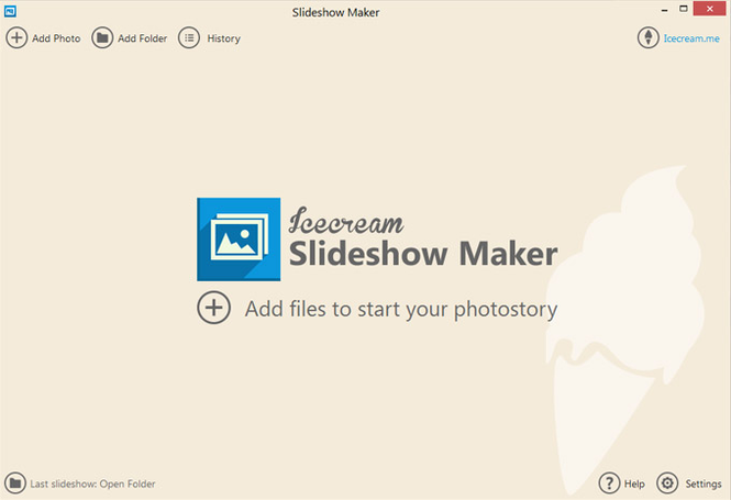 Icecream Slideshow Maker Screenshot