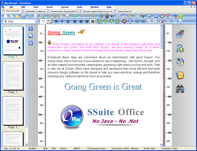 SSuite WordGraph Screenshot