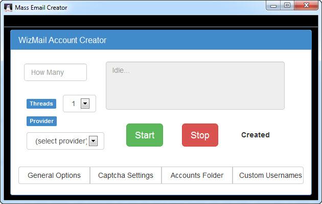Mass Email Creator WizMail Screenshot