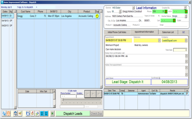 The Ant - lead, client and production management CRM Screenshot