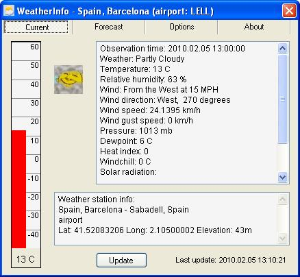WeatherInfo Screenshot