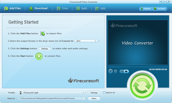 Firecoresoft Video Converter Screenshot