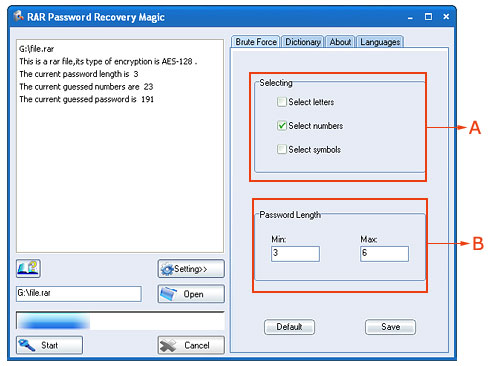 Download RAR Password Recovery Magic 6 1 1 393
