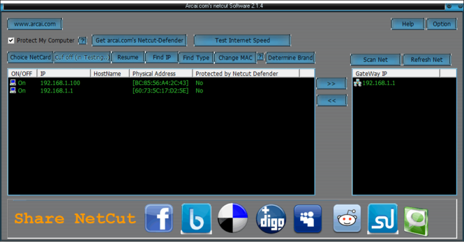 Netcut Screenshot 1