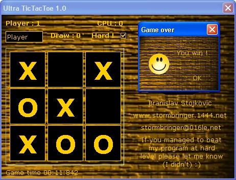Ultra TicTacToe Screenshot
