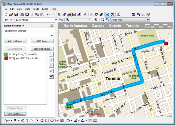 Microsoft Streets & Trips Screenshot