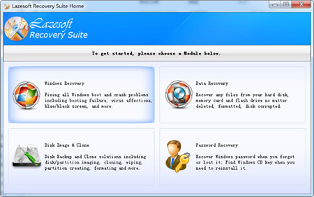 Lazesoft Recovery Suite Screenshot