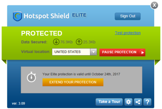 Hotspot Shield Elite Screenshot 2
