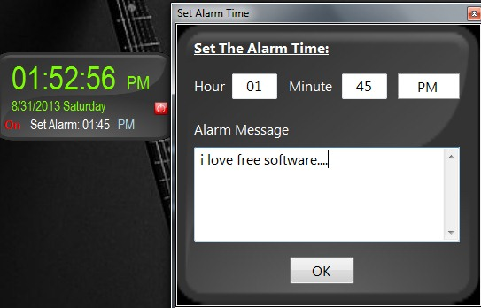 Mini Desktop Digital Alarm Clock Screenshot