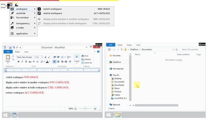 Mywe Virtual desktop Screenshot