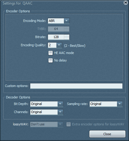 TAudioConverter Screenshot 2