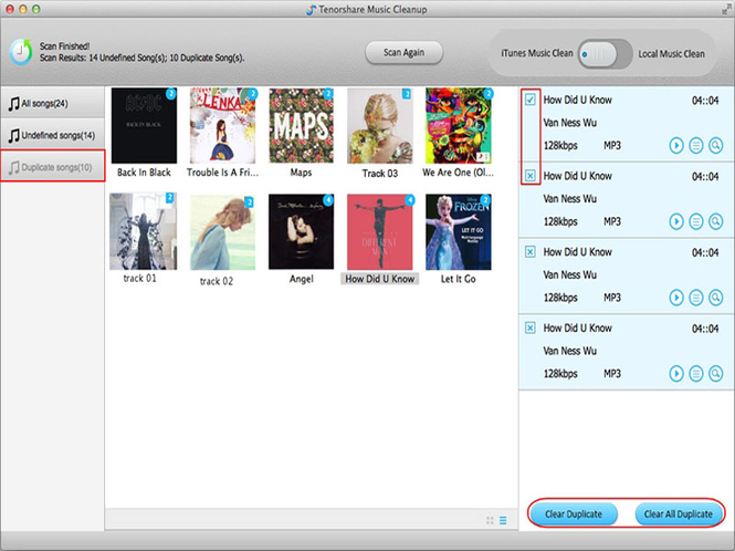 Music Cleanup for Mac Screenshot