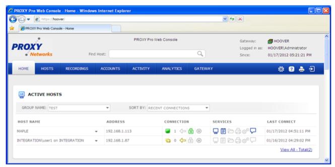 Proxy Pro 8 Screenshot