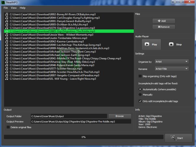 NeatMP3 Pro Screenshot