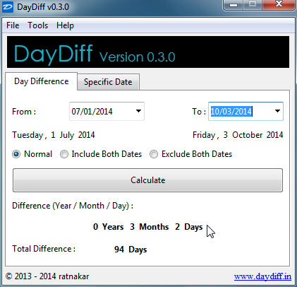 DayDiff Screenshot