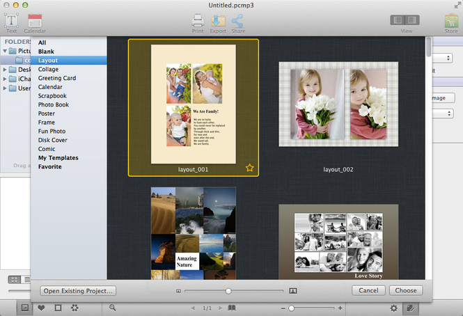 AmoyShare Photo Collage Maker for Mac Screenshot