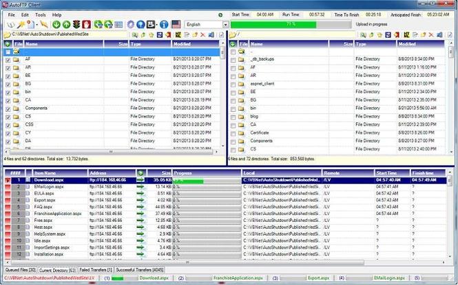 AutoFTP Client Screenshot