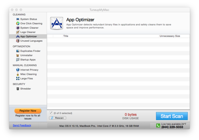 TuneupMyMac Screenshot 5