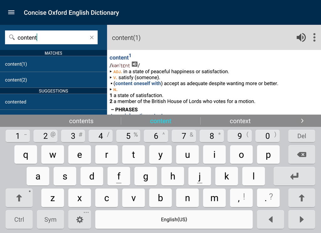 Concise Oxford English Dictionary with Audio Screenshot 13