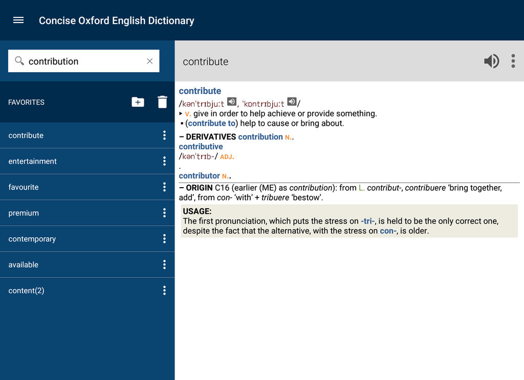 Concise Oxford English Dictionary with Audio Screenshot 14