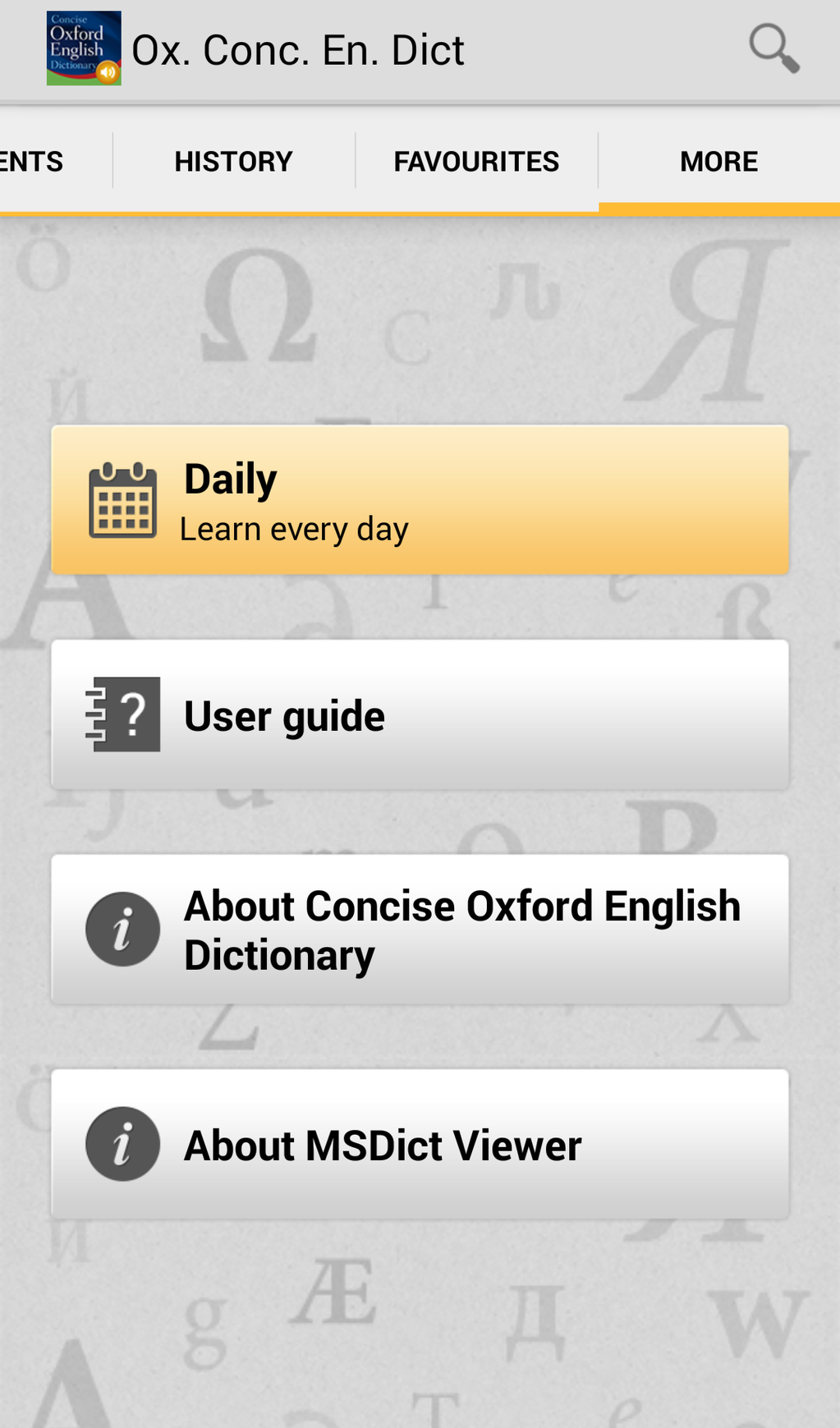 Concise Oxford English Dictionary with Audio Screenshot 5