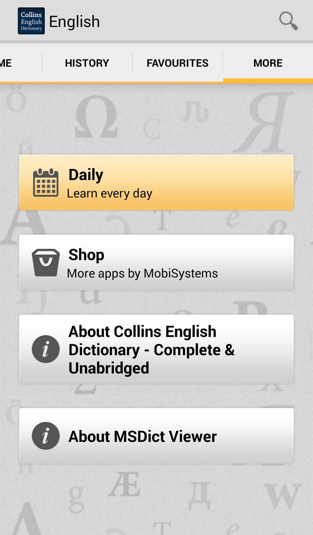 Collins English Dictionary Complete & Unabridged Screenshot 4